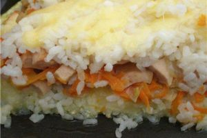 рисовая запеканка фото