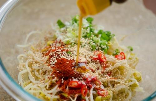 салат из ростков мунг фото