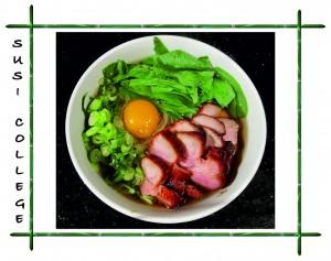еобыкновенная свинина с лапшой соба и яйцом — Тсукими