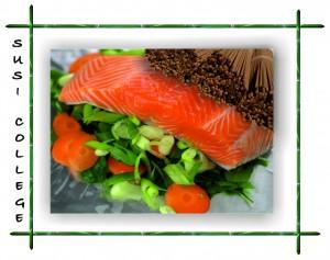 японская лапша соба с лососем