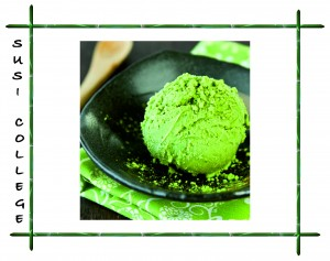 японское мороженое из зеленого чая Матча