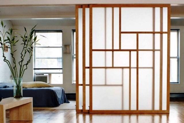 зонирование, японские шторы, пример