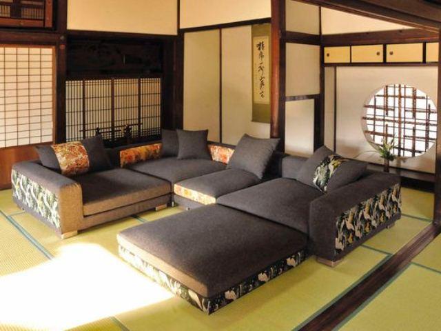 Фото: Диван в японском стиле - философия комфорта