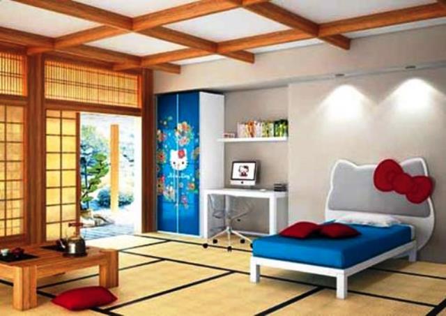 Японские панели в детской комнате