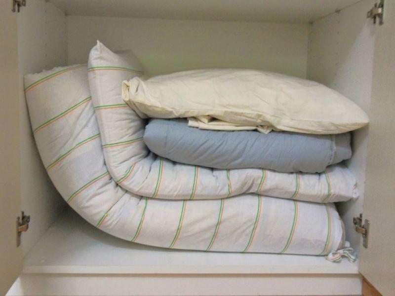 Преимущество японской кровати - возможность её убрать