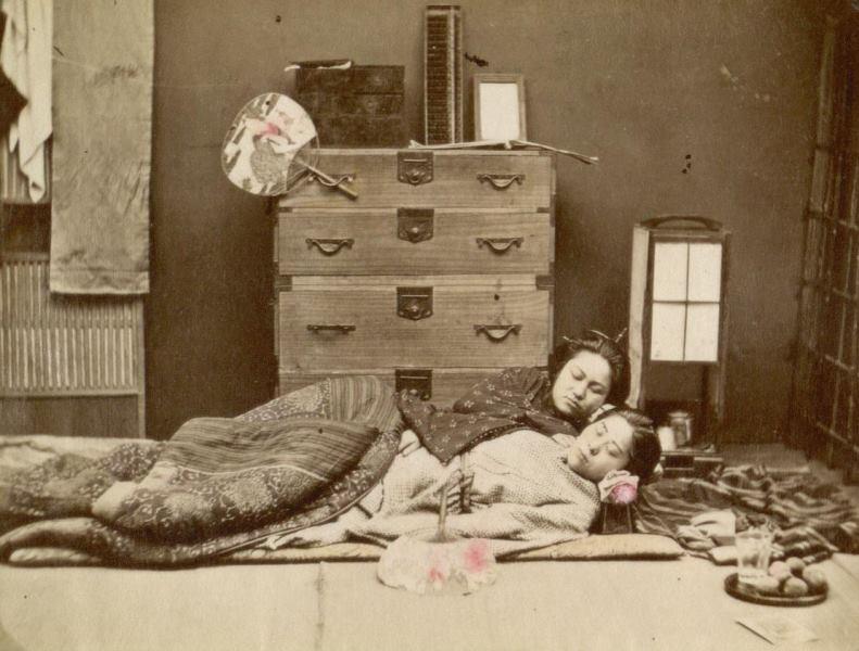 Кровать в Японии в XVII веке