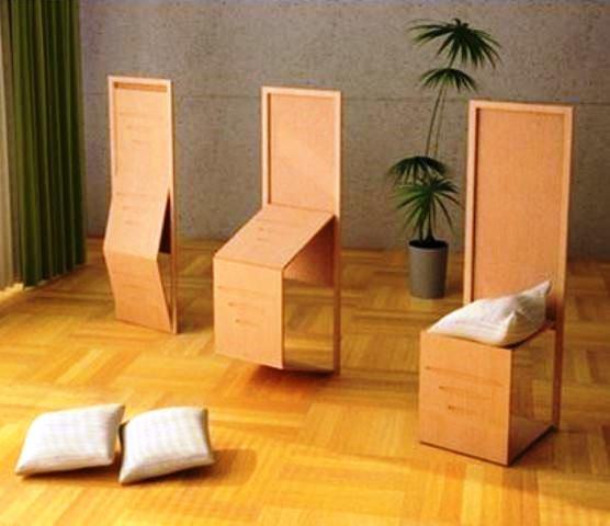 Многофункциональные складные стулья в японском стиле - фото