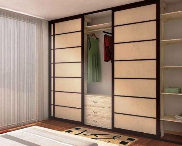 Шкаф-купе в японском стиле - фото