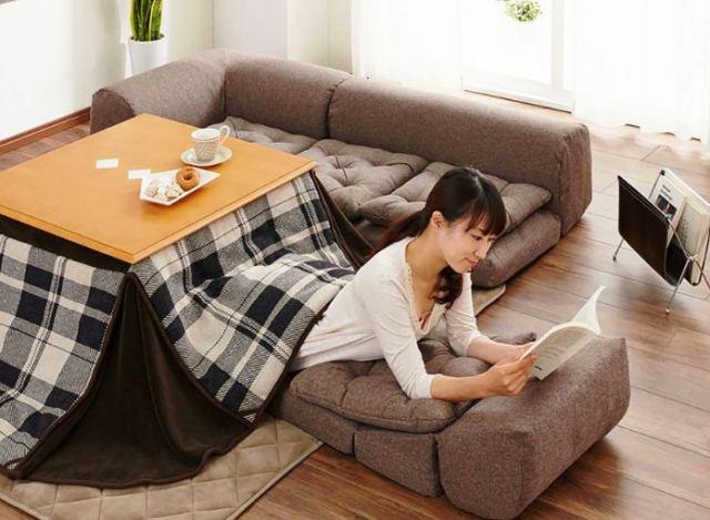 теплый японский стол - фото